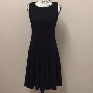 Jessica Howard Black ponte knit fit & flare dress